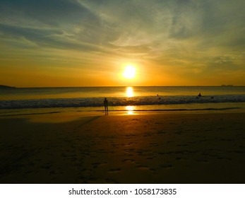 Sunset in Flamigo beach, Costa Rica.