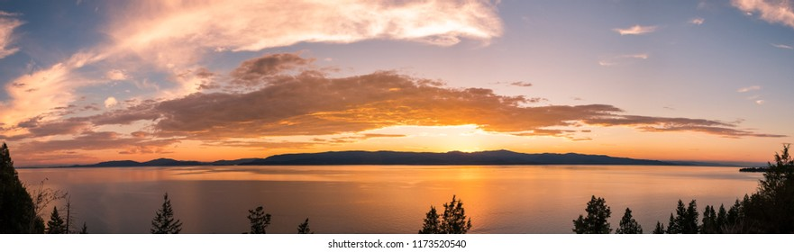 Sunset Flathead Lake Montana