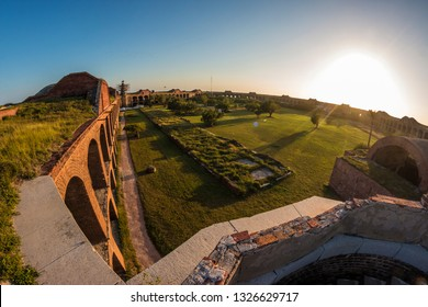 Sunset at Fort Jefferson in Dry Tortugas National Park (Florida)