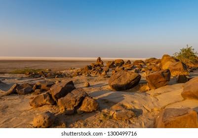 Sunset at Fossil Park, Dholaveera, Gujarat, India
