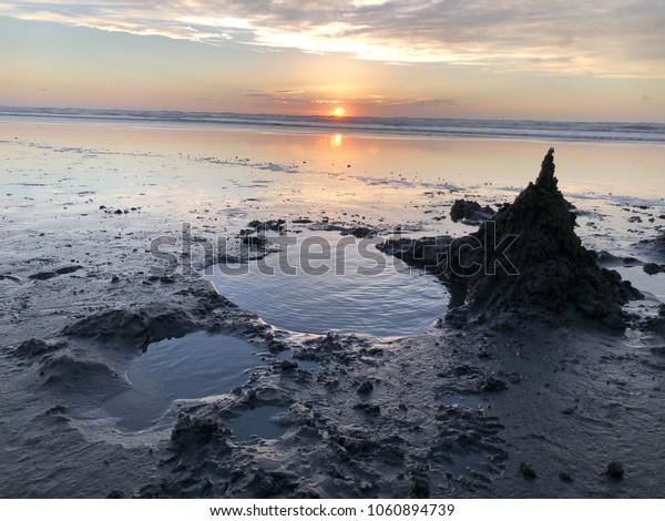 Sunset, Foxton beach, New Zealand