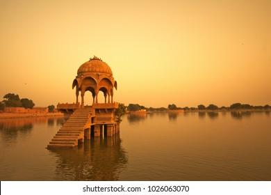 Sunset at Gadisar lake.