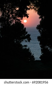Sunset in Galicia, Atlantic Ocean, Cantabrian Sea, Spain,