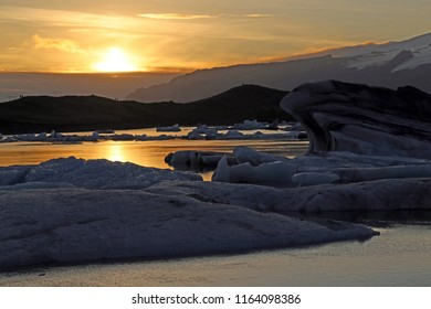 Sunset and Glaciers