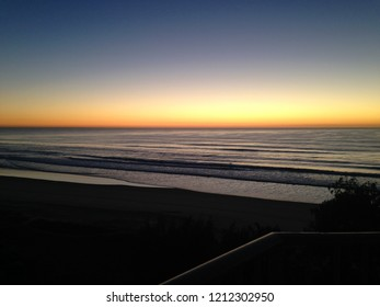 sunset at goldcoast australia beach surfers paradise