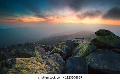 Sunset in Gorgany, Ukrainian Carpathians