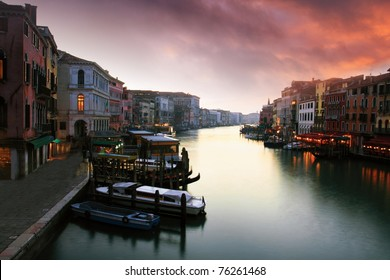 Sunset in the Grand Canal