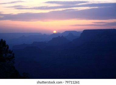 Sunset in Grand Canyon NP in May