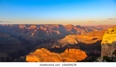 sunset at grand canyon seen from mathers point