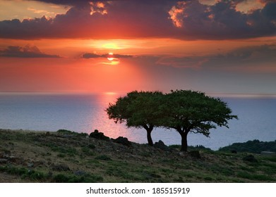 Sunset at Greece