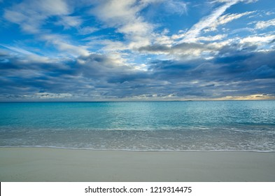 Sunset and green sea at Paradise Beach - Cayo Largo - Cuba