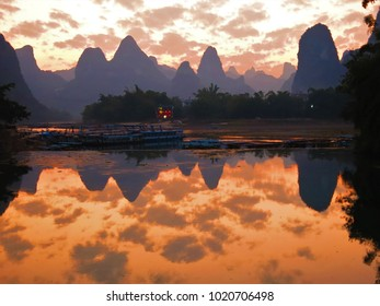Sunset in Guilin, China