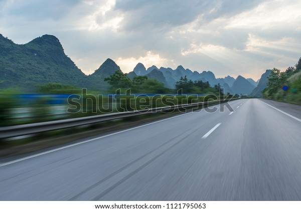 Sunset Guilin Highway