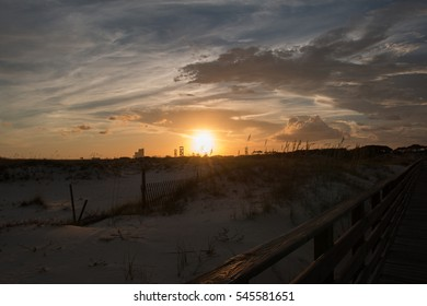 sunset gulf shores alabama on beach