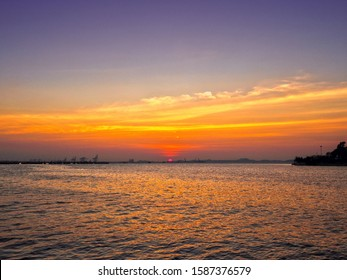 Sunset with Half Evening Sky