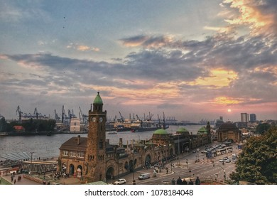 Sunset in Hamburg