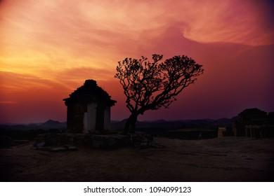 Sunset at Hampi, India