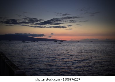 sunset harbor side lahaina maui hawaii pacific ocean