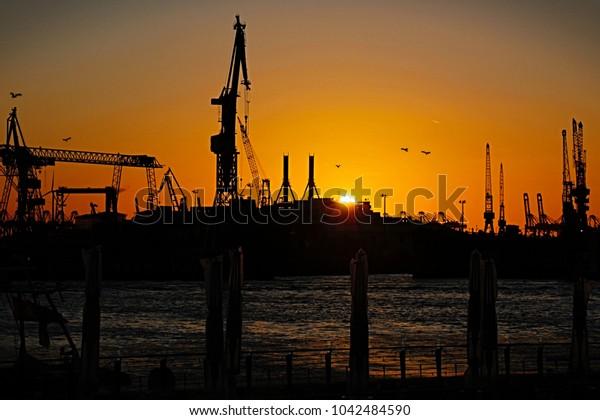 sunset harbor view