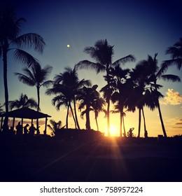 Sunset at a Hawaiian Luau