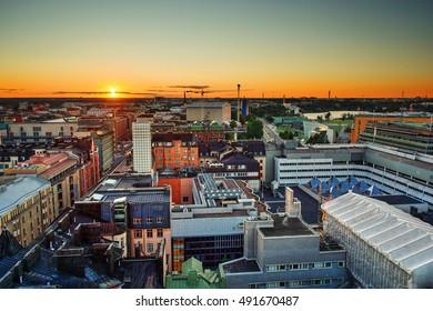Sunset in Helsinki (Finland), HDR-technique