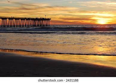 Sunset at Hermosa Beach Pier