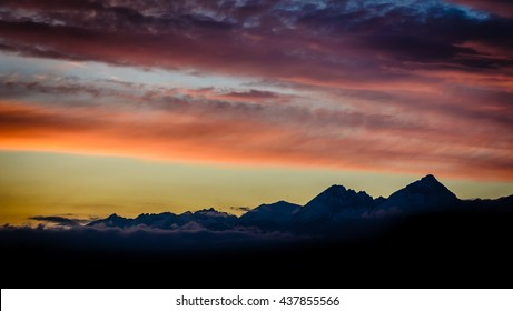 Sunset in High Tatras