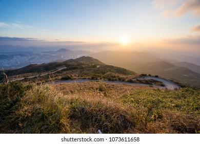 Sunset in the highest mountian of Hong Kong -Tai Mo Shan