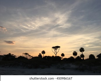 A sunset in Hilton Head