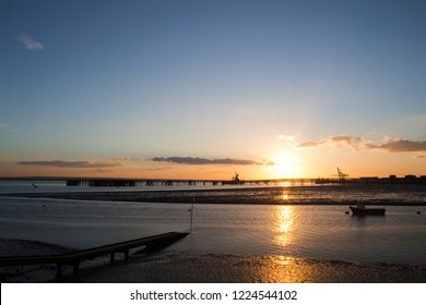 Sunset at Holehaven, Canvey Island, Essex, England