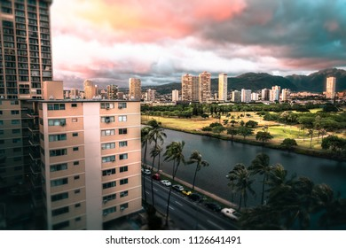 Sunset in Honolulu Hawaii