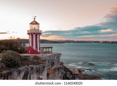 sunset at Hornby Lighthouse Sydney Australia
