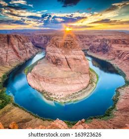 Sunset at the Horseshoe Band, Grand Canyon