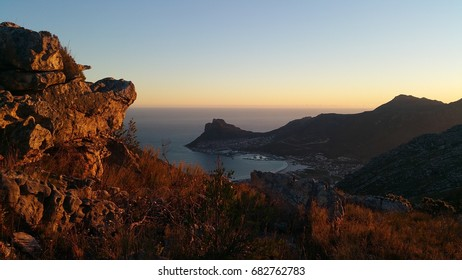 Sunset at Hout Bay, near Cape Town, Western Cape, South Africa
