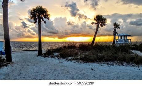 Sunset at Howard Park, Tarpon Springs, FL