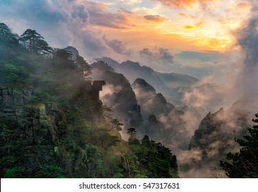 Sunset at Huangshan