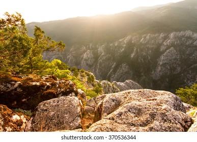 Sunset at Ida Mountain, Altinoluk, Balikesir, Turkey