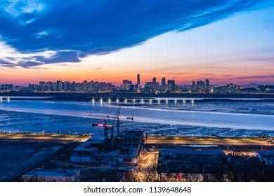 Sunset at Incheon City, South Korea