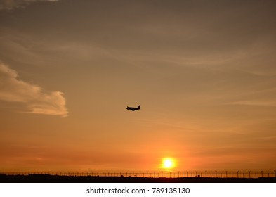 Sunset at International Airport