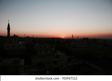 Sunset in Irbid, Jordan.