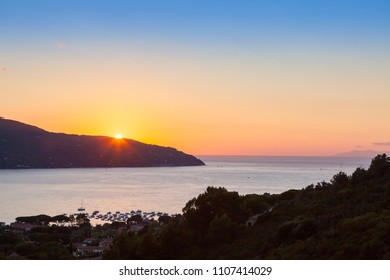 Sunset at Isola d'Elba, Italy