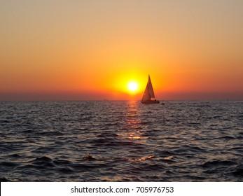 sunset, Italy