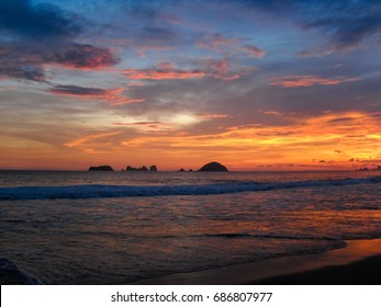 Sunset. Ixtapa-Zihuatanejo. Pacific. Nature of Mexico. North America