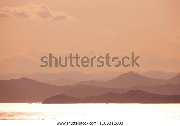 Sunset of Japan's Mie Sea