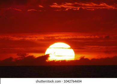 Sunset in Jericoacoara,Brazil,power of universe