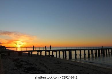 Sunset at jetty, Dromana