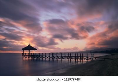 Sunset Jetty Mauritius, Africa