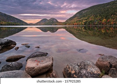 Sunset at Jordan pond
