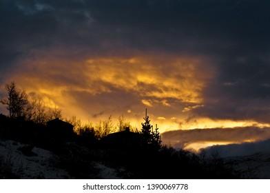 Sunset in Jotunheimen mountain range.
