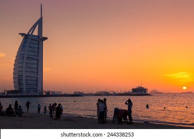 Sunset at Jumeirah Beach, Dubai